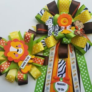Accessories - Safari baby shower corsage/the jungle baby shower